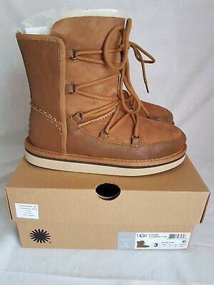 Girls Brown Leather Ugg Boots UK 11