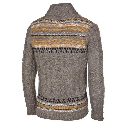 Strick Knopfleiste Pullover Khujo Pulli Herren Im Pals Stil Grau Cardigan Mit vInwT56Rxq
