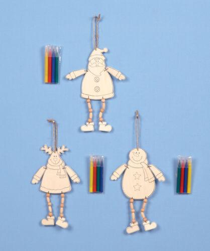 Childs noël activité cadeau couleur en bois cintre décoration stocking remplissage