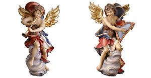 Couple-Anges-sur-un-Nuage-avec-Corne-et-Harpe-Angels-On-Cloude