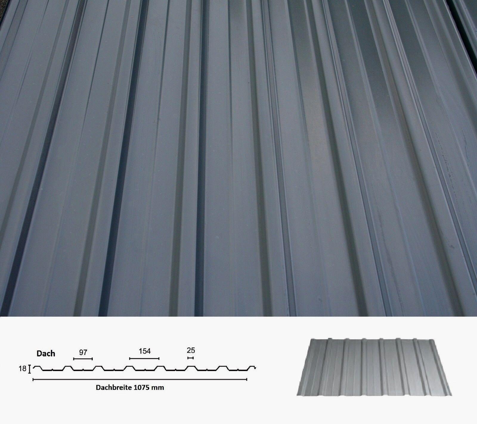 Trapezblech 3,00 m Trapezbleche Profilblech Dachplatte Wandblech Blech 1. Wahl