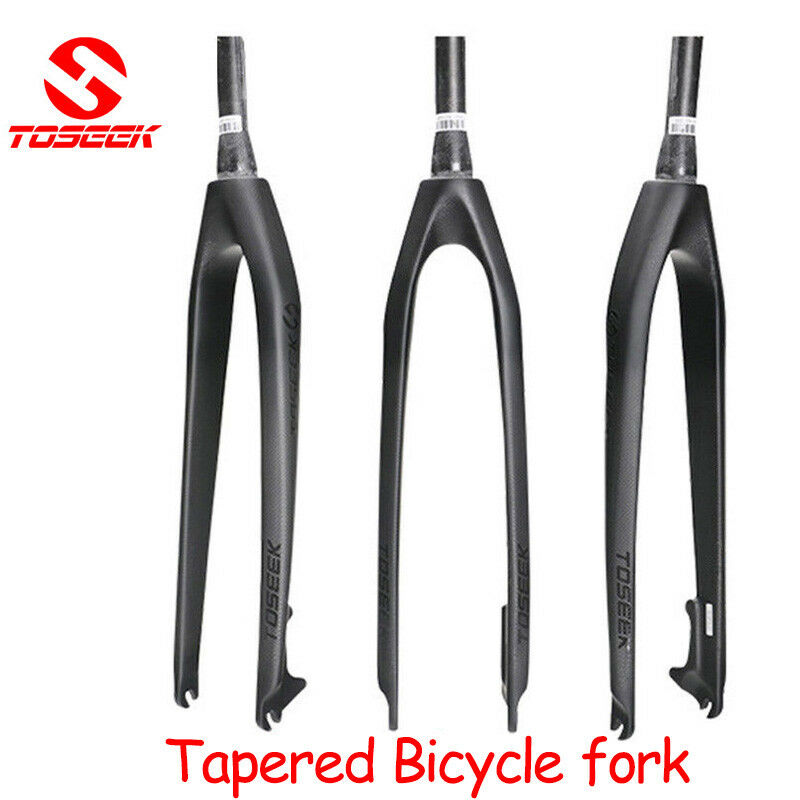 TOSEEK Carbon Fiber MTB Bicycle Tapered Fork Disc Brake 1-1  8  Rigid Superlight  world famous sale online
