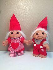 Adorable 1984 Vintage Dam Troll Boy and Girl Set