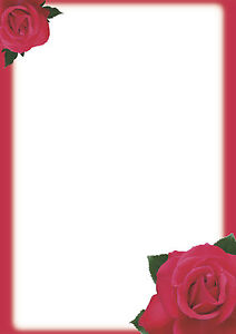 motivpapier briefpapier 50 blatt din a4 rote rosen einladung, Einladungen