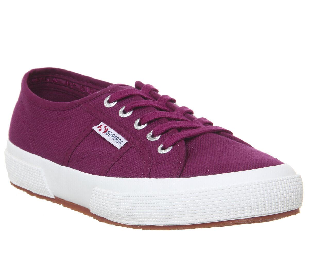 Womens Superga 2750 Trainers Red Magenta Purple Trainers Trainers Trainers shoes 624e4a