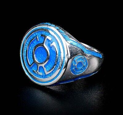 Corps Power Ring 925 Sterling Silver White Enamel Size 7-13 White Lantern Ring