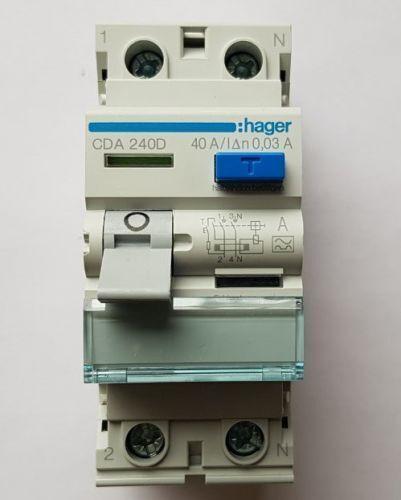HAGER FI-Schutzschalter CDA240D 2-polig 40A 30mA