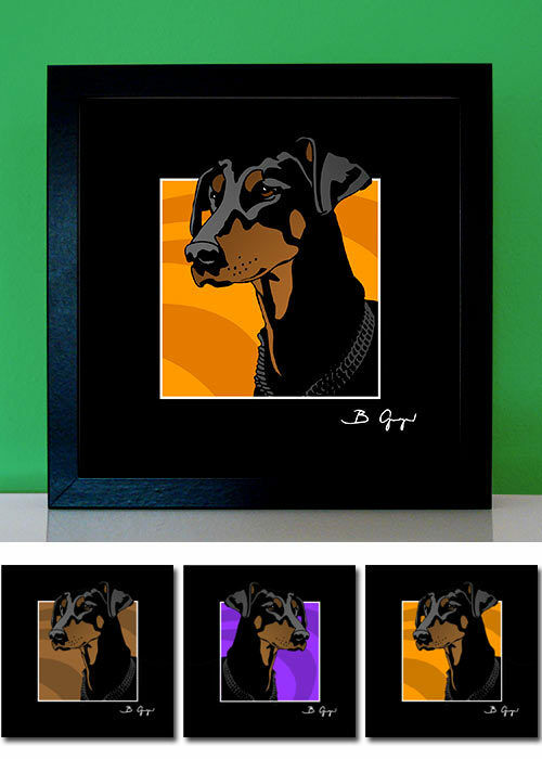 Dobermann No.2 Dobi - Pop Art Bilder Poster Leinwand Foto Portrait Hund pop-dogs