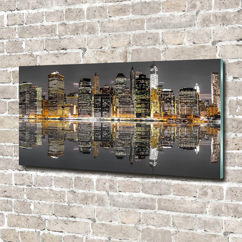 Acrylglas-Bild Wandbilder Druck 140x70 Deko Landschaften New York bei Nacht