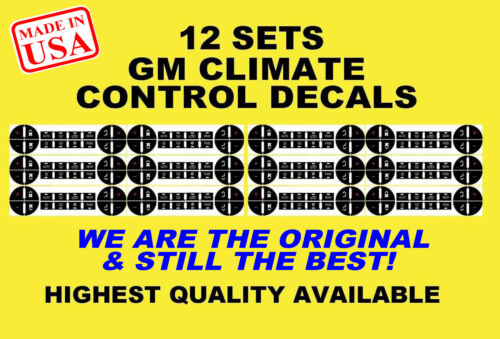 2007-2013 GM Button Repair Decals Stickers Climate Control A//C Radio Chevrolet