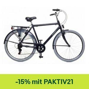 Amigo Style - Cityräder für Herren - Herrenfahrrad 28 Zoll - Schwarz/Grau