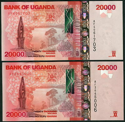 we combine UNC Uganda   P52a 10,000 10.000 10000 shillings 2010