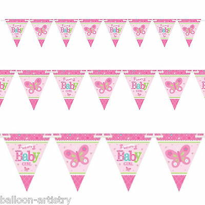 4.5m Little Pink WELCOME Baby Girl Shower Party Pennant Flag Banner Bunting