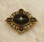 Victorian-15ct-Oro-Amarillo-luto-Perla-y-Negro-Onyx-Broche miniatura 1