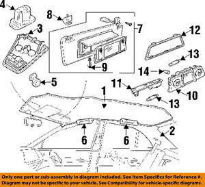GM OEM Interior-Roof-Dome Reading Map Light 20980237