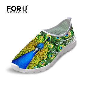Slip-On-Running-Trainers-Women-039-s-Animal-Print-Breathable-Sneakers-Urltralight