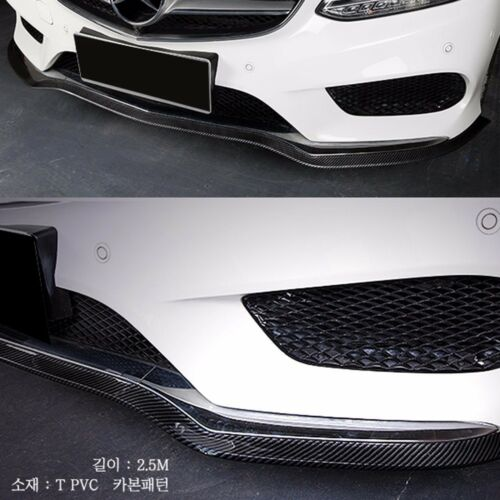 Carbon Front Bumper Body Skirt Protector Sticker For Mazda 6 Atenza M6 2014~2016
