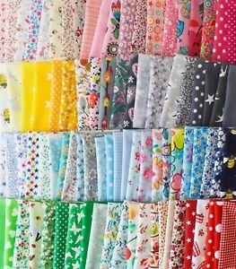 Patchwork Bundle tissu matériau joblots Mixte Craft chutes chutes Bow Making
