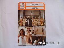 CARTE FICHE CINEMA 1993 LA NUIT SACREE Amina M.Bosé