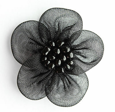 """New Beaded Organza Flowers Sew On Appliques 20 Different Colors #1 Size : 1"""""""