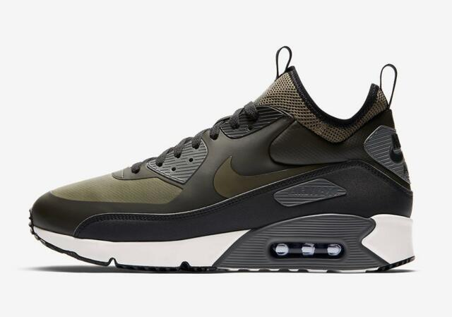 online store b665a f1b9a NIKE AIR MAX 90 ULTRA MID WINTER 924458 300 SEQUOIA/OLIVE  GREEN/BLACK/WHITE/GREY