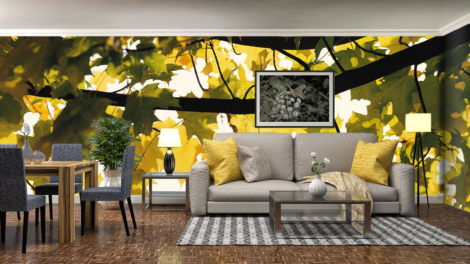 3D Maple Leaf Tree 562 Wall Paper Wall Print Decal Wall Deco Indoor Mural Carly