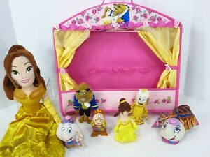 Beauty-amp-the-Beast-Finger-Puppet-Show-Dolls-15-034-Theater-Belle-Plush-Disney