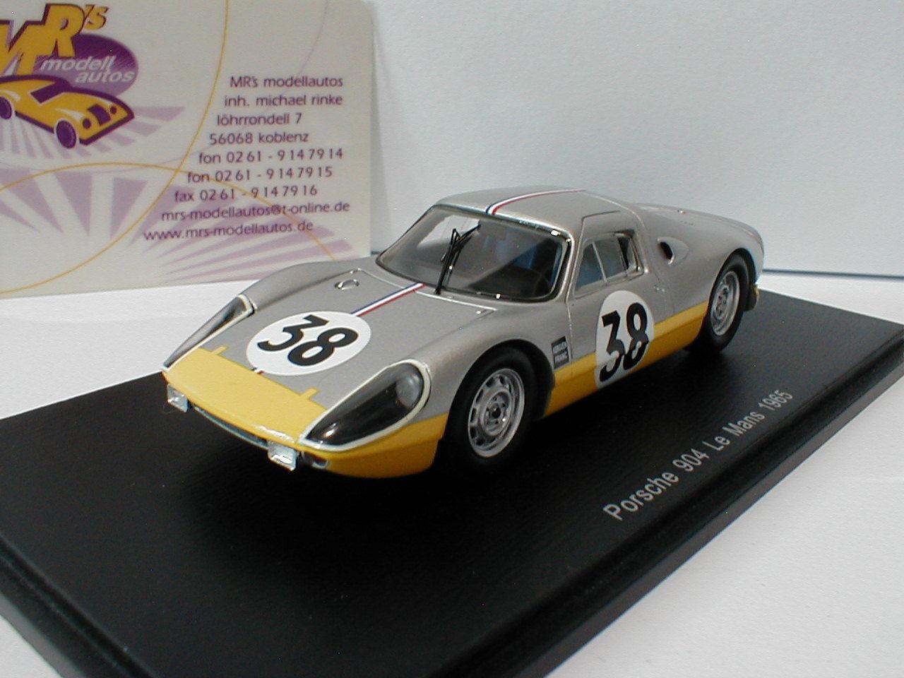 Spark s4683 Porsche 904 No. 38 24h LEMANS 1965 Franc, kerguen 1 43 NEW