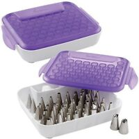 Wilton Tip Organizer Holds Over 55 Standard Sized Tips Purple White
