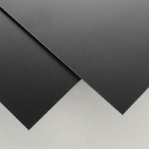"BLACK POLYSTYRENE PLASTIC SHEET 0.020/"" X 6/"" X 12/"" VACUUM FORMING"