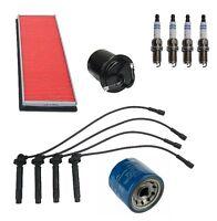 Tune Up Kit Spark Plugs + Filters + Wire Set Premium Fits Subaru Impreza 99-04 on sale