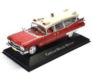 Metal-maqueta-de-coche-1-43-ambulancias-ambulancia-Cadillac-Miller-Meteor-Ambulance