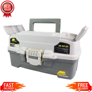 Fishing Tackle Box Plano One Tray Outdoor Gear Hooks Lures Lightweight Sturdy
