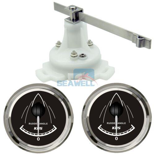 KUS Boat Marine Rudder Angle Gauge Indicator W// Dual Station Rudder Sensor