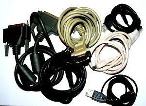 Assortimento-DI-CAVI-PER-COMPUTER-STAMPANTE-SERIALE-VGA-USB-Micro-USB-Slim-Micro-Cavo-USB