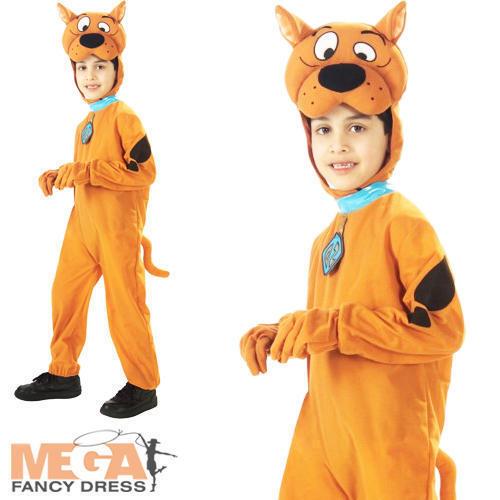 Scooby Doo Boys Fancy Dress Halloween TV Cartoon Dog Animal Childs Kids Costume