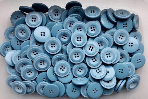 23mm 36L Light Baby Blue 4 Hole Polished /& Matt Coat Jacket Buttons Button W213A