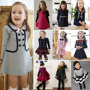 53c456e4b9ee Image is loading Toddler-Baby-Girls-Kids-Winter-Long-Sleeve-Princess-