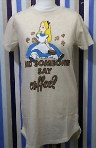 Ladies-Primark-Disney-Alice-In-The-Wonderland-Nightwear-Long-Tshirt