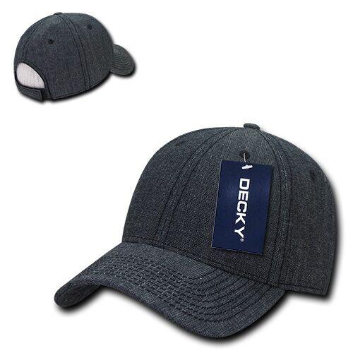 Black Plain Solid Blank Washed Denim Cotton Low Crown Baseball Ball Cap Hat