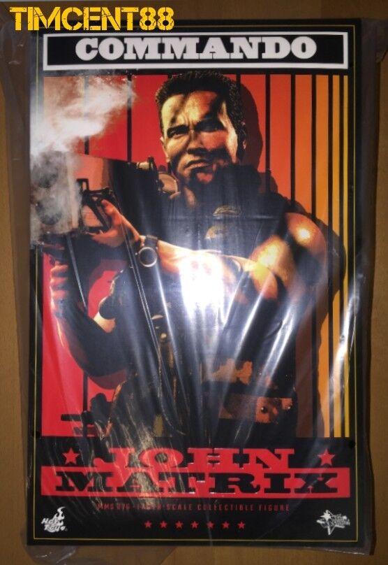 listo Hot Toys MMS276 Commando 16 John Matrix Arnold Schwarzenegger Nuevo