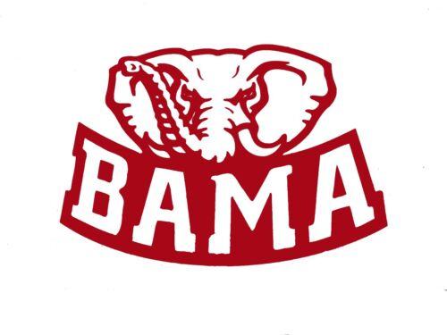University Of Alabama Bama Crimson Tide Vinyl Decal Sticker 77183