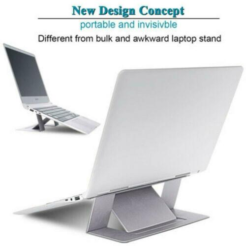 Gray Adjustable Invisible Portable Folding Laptop Stand for MacBook Pro//Air