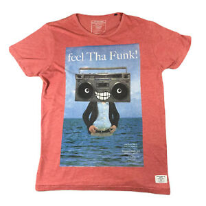 JACK-amp-JONES-Mens-Graphic-Boom-Box-T-Shirt-Tee-Top-M-Medium-Cotton