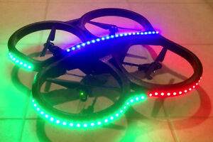 Deluxe Color Change Remote LED Light Kit for AR Drone Indoor Hull 2.0 & 1.0