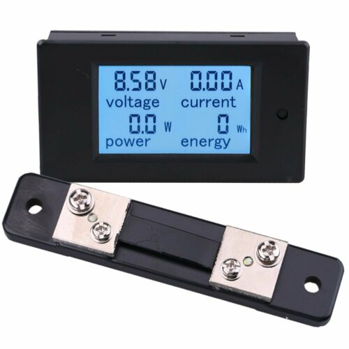 DC 100A Meter Voltage Current Power Energy Combo Monitor for Car Battery Solar K