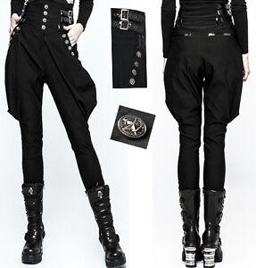 b8351592a928c ... Pantalon-jodhpur-gothique-lolita-militaire-fashion-sangle-vinyle-