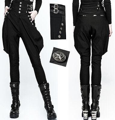 Pantalon Jodhpur Gothique Lolita Militaire Fashion Sangle Vinyle Bouton Punkrave Ricco E Magnifico