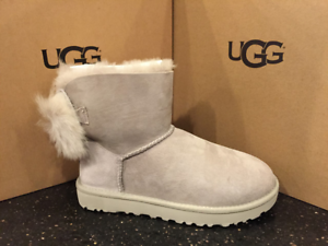 093652724d5 Details about UGG AUSTRALIA WOMEN CLASSIC MINI FLUFF BOW BOOT WILLOW (WILL)  1094967