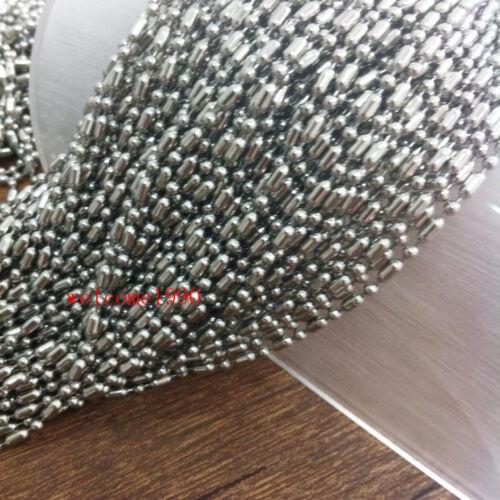 En vrac 10 m en Acier Inoxydable Riz Perles Chaîne Trouver Bijoux marquage 2.4 mm
